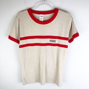 Pink Victoria's Secret Baseball Tee Shirt Sz M